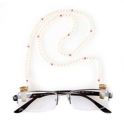 Home-X Fashion Pearl Effect Eyeglass Chain