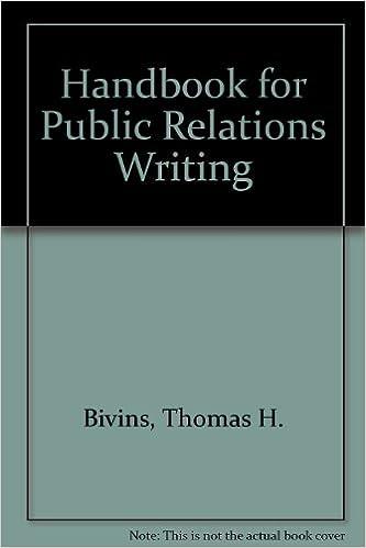 Handbook for Public Relations Writing