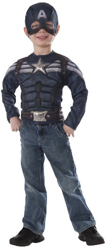 Marvel Captain America: The Winter Soldier Stealth Muscle Chest Shirt and Mask -