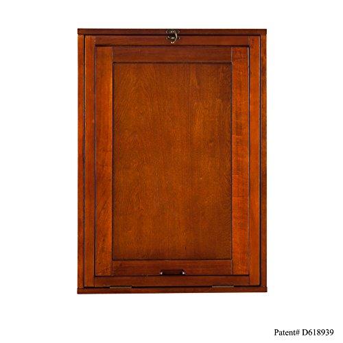 037732092904 - Fold-Out Convertible Desk - Walnut carousel main 1