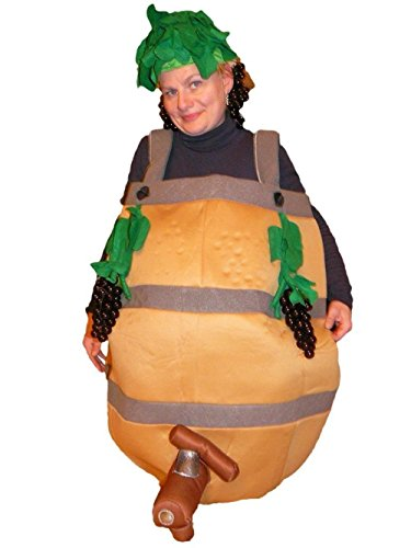 Fantasy World Wine Barrel Costume Halloween f. Men and Women, Size: L / 10-14, (Wine Bottle Costumes For Halloween)