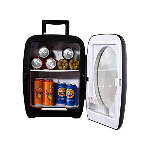 Generic Thermometric Compact Refrigerator Personal Car Truck Fridge Camper Desktop Bottle Can Cooler Warmer with Glass Door,Black 15L (Big Chill Fridge)