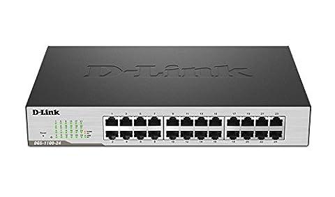 D-Link 24-Port EasySmart Gigabit Ethernet Switch (DGS-1100-24) (Link Aggregation Switch Gigabit)