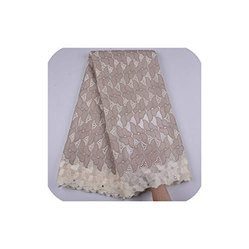 Cotton Lace Fabric 2019 Latest Design Swiss Voile with Stone Swiss Voile Lace in Switzerland for Party Dress,As Picture4