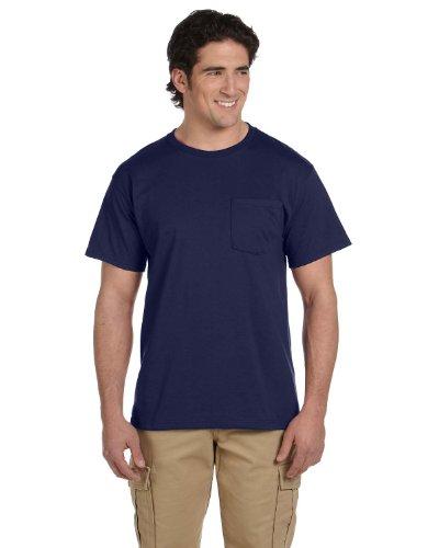 Jerzees Adult Heavyweight Blend Dri-Power Active Pocket T-Shirt, J Nvy, XX-Large