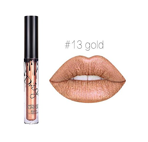 Hosaire 12 Colores Impermeable Mate Brillo De Labios Pintalabios Maquillaje Líquido Pintalabios Belleza Brillo De Labios A13