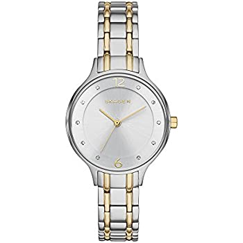 Skagen Womens Anita Quartz Two-Tone Stainless Steel Casual Watch, Color: Silver and Gold-Tone (Model: SKW2321)