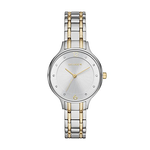 Skagen Women's Anita Quartz Two-Tone Stainless Steel Casual Watch, Color Silver and Gold-Tone (Model: SKW2321)