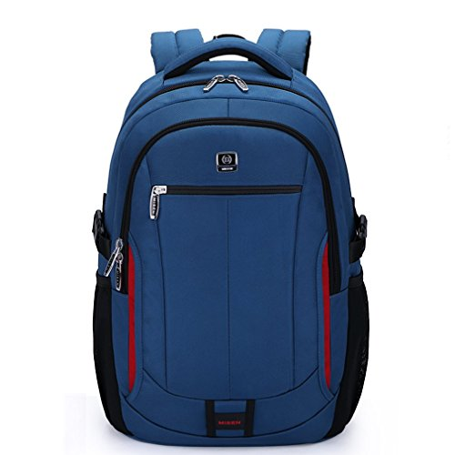 15.6 Inch Unisex 1680D Oxford Waterproof Resistant Backpack Laptop Tablet Briefcase for Macbook Pro Macbook Air Ultrabooks (15.6inch, Blue)