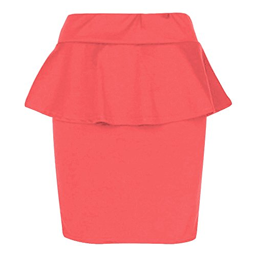 The Home of Fashion - Falda - para mujer Coral