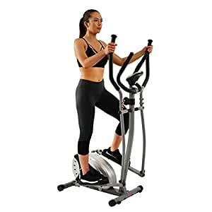 Sunny Health & Fitness Unisex Adult SF-E905 Magnetic Elliptical Bike - Silver, One Size