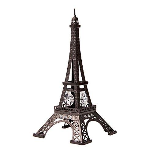 Gunmetal Grey Crystal Studded Eiffel Tower Ornament by (Crystal Paris Eiffel Tower)