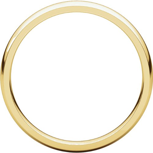 Mens 10K Yellow Gold 3mm Light Comfort Fit Domed Wedding Band Ring