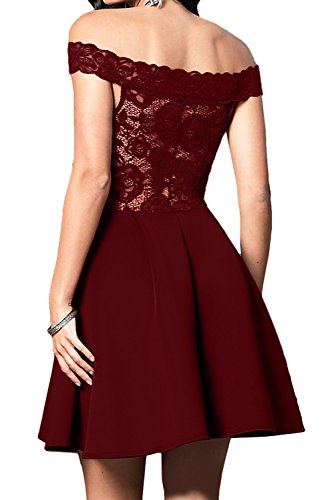 Partykleider U Kurz Spitze Ausschnitt Abendkleider Damen Linie Ballkleid Dunkelrosa A Ivydressing wznBaxRPA