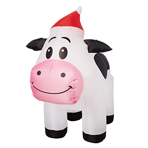 Lighted Outdoor Christmas Cow