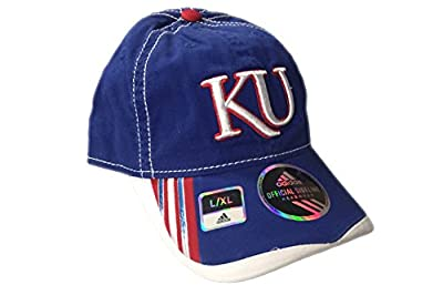 University of Kansas Jayhawks Blue adidas Slope Flex Hat - L/XL