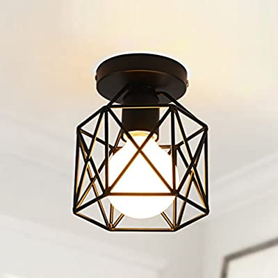 Marsbros Retro Vintage Industrial Mini Painting Metal Flush Mount Pendant Light Ceiling Light for Living Room/Bedroom/Dining Room/Kitchen/Bathroom