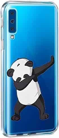 Replacement for Samsung Galaxy A7 2018, Panda Design Clear Transparent Soft TPU Rubber Bumper Silicone Phone case for Galaxy A7 2018 (4, Samsung Galaxy A7 2018)