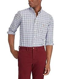 Men Solid Sport Oxford Shirt