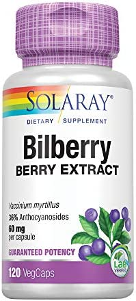 Solaray Bilberry Berry Extract 120 VegCap