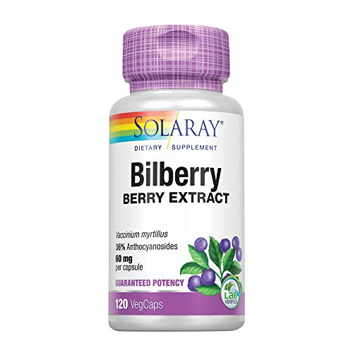 Solaray Bilberry Extract, 60 mg, 120 Count