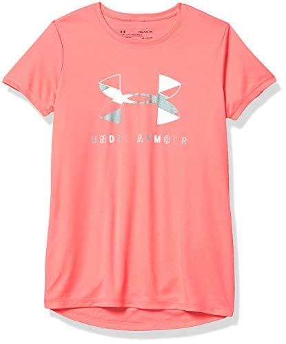 Under Armour Girl's Big Logo Tech Short Sleeve Training Workout T-Shirt