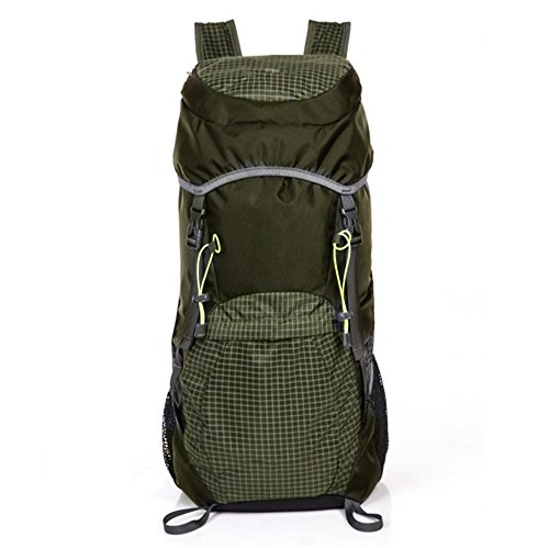 ZYPMM bolso bolsa de viaje unisex mochila bandolera ultraligero portátil plegable ocio al aire libre ( Color : Púrpura ) Army green