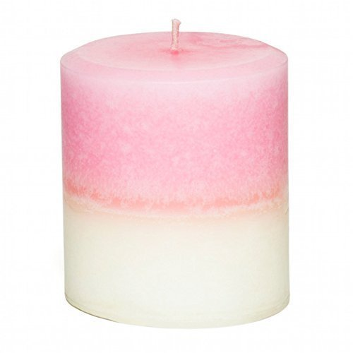 Scented Round Pillar Candle (Jasmine Rose Petals Scented Pillar Candle - Multi-Colored - Handmade by JenSan Home and)
