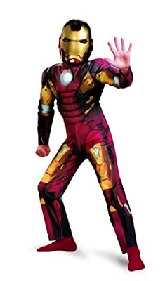 Disguise Iron Man Mark VII Avengers Movie Classic Muscle
