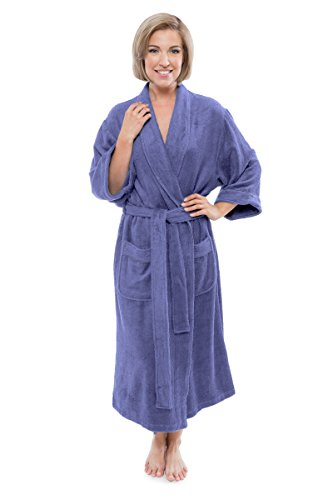 - Women's Luxury Terry Cloth Bathrobe - Bamboo Viscose Robe by Texere (Ecovaganza, Kashmir Blue, Large/X-Large) Unique for Girlfriend Daughter Fiancée WB0101-KHB-LXL
