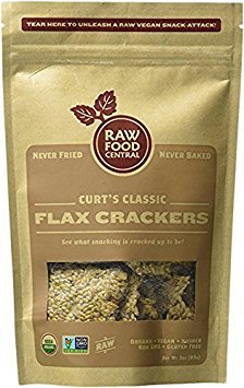 Raw Food Central Curt's Classics Snacks 100% Organic, Non-GMO, Gluten Free and Vegan - 4 Pack (Flax Crackers)