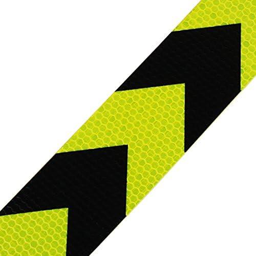 Giallo//Nero Freccia 5cm x 25m Andux Zone Nastro Adesivo Nastro di Avvertimento Nastro di riflessione Nastro di marcatura di Sicurezza FGJ-01