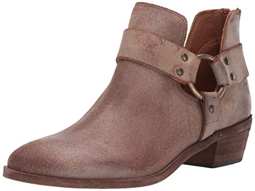 FRYE Women's Ray Harness Back Zip Ankle Boot, Chocolate, 7.5 M US from FRYE
