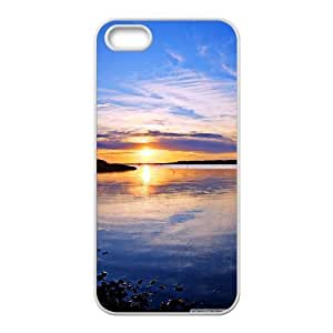 IPhone 5,5S Case Clinton Lake Lawrence Kansas United States ??¨¤?¨¤? Unique for Guys, Case for Iphone 5s for Women Pharrel, {White}