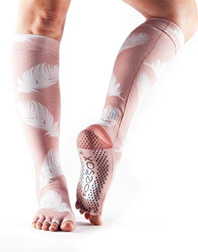 ToeSox Women's Scrunch Knee High Half Toe (Trance) Medium - Spring Collection 2016