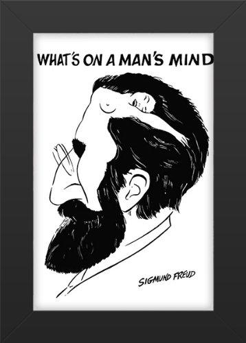 Sigmund Freud - Whats on a Mans Mind Pop Art Print Pop Memorabilia Poster Framed, Vibrant Color, Features Sigmund Freud