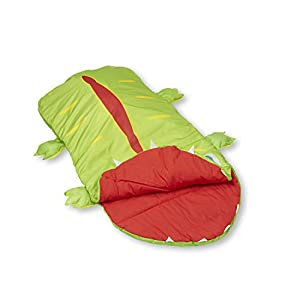 Melissa & Doug Augie Alligator Sleeping Bag With Matching Storage Bag