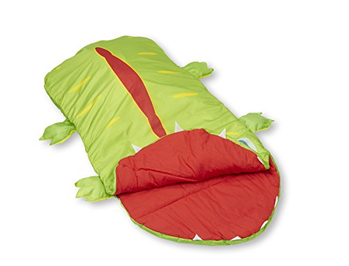 Melissa & Doug Augie Alligator Sleeping Bag With Matching Storage Bag
