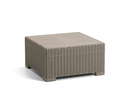Keter California All-Weather Outdoor Patio Coffee Table in a Resin Plastic Wicker Pattern, Cappuccino by Keter