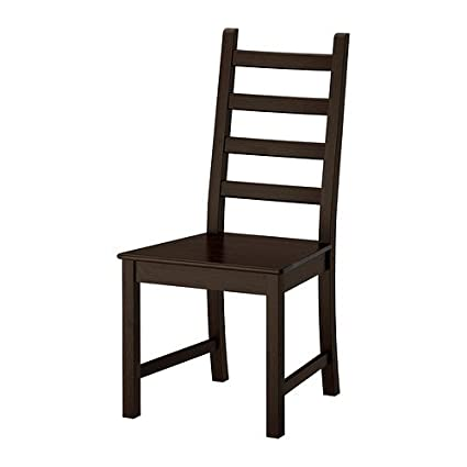 Two - IKEA KAUSTBY Dinning Chair brown-black  sc 1 st  Amazon.com & Amazon.com - Two - IKEA KAUSTBY Dinning Chair brown-black - Chairs
