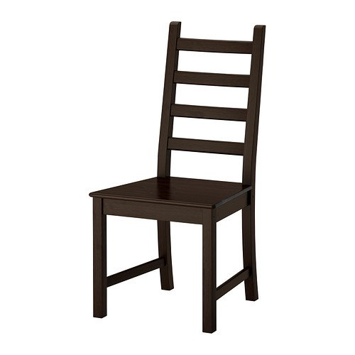 Two - IKEA KAUSTBY Dinning Chair, brown-black
