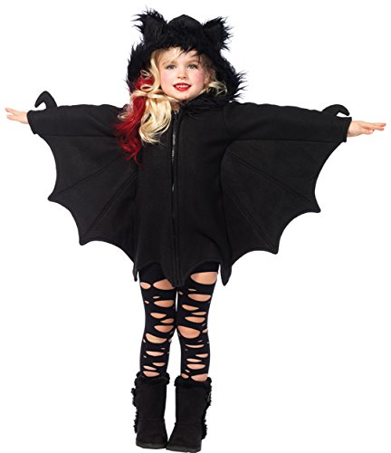 Toddler Fleece Bat Costumes (UHC Girl's Cozy Bat Outfit Funny Theme Party Fancy Dress Child Halloween Costume, Child XS (3-4))