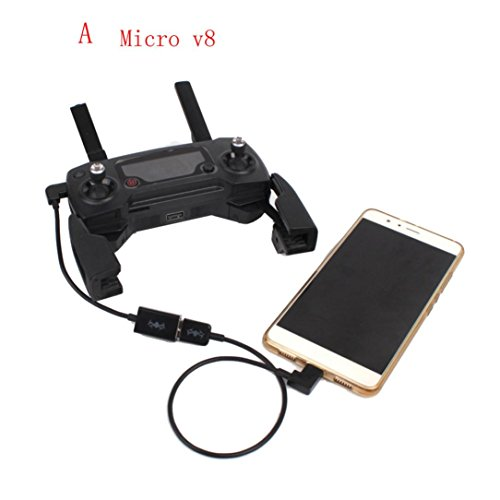 Newest Transmitter Controller To Phone Tablet USB Cable Connector For DJI Mavic Pro RC (Micro USB Cable)