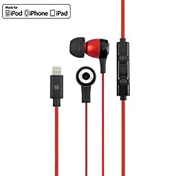 Uunique Regent MFI In-Ear Lightning Headphones for iPhone 7, Apple Certified Earbuds with Volume Control and Built-In Mic for iPhone 7 iPhone 7 Plus, 6s, 6, 5s, 5, iPad, iPod