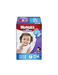 HUGGIES Little Movers Diapers, Size 4, 124 Count (Packaging May Vary) BOBEBE Online Baby Store From New York to Miami and Los Angeles