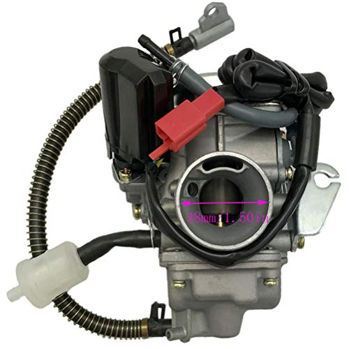 150cc Carburetor for GY6 4 Stroke Engines Electric Choke Motorcycle Scooter 152QMJ 157QMI with Air Filter Intake Manifold by Auto parts (Image #4)