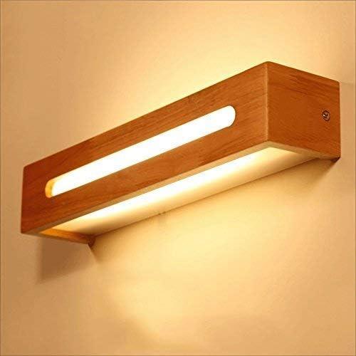 Willsego Espejos de Madera Proyector LED Apliques de Pared para ...