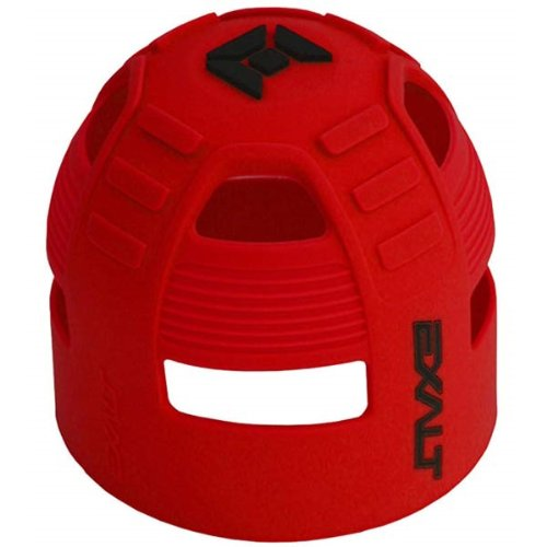 Exalt Paintball Tank Grip - 45-88ci - Red/Black