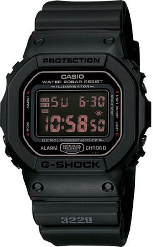 Casio DW6900MS-1V  G-Shock Matte Black Resin Strap Mens Watch (Black Resin Strap)