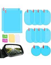 12Pcs Car Rearview Mirror Film, LeeLoon Anti Fog Anti Glare Anti Scratch Anti Mis Rainproof Waterproof HD Nano Clear Protective Sticker Film for Car Mirrors, Side Windows, Safe Driving